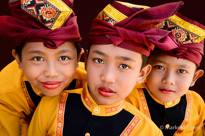 Balinese boys in traditional dress